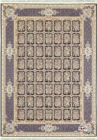 فرش طرح خشتی قهوه ای 1200 برجسته