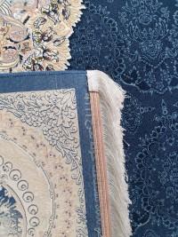 فرش طرح هالیدی سرمه ای 1200 برجسته