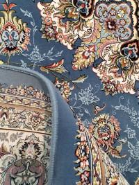 فرش باغ رزیتا آبی گلبرجسته
