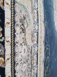 فرش طرح گلسار سرمه ای 1200 برجسته